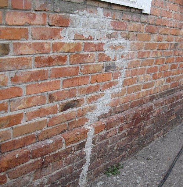 предлагаю усиление треснувшей стены фото чертой фоамирана